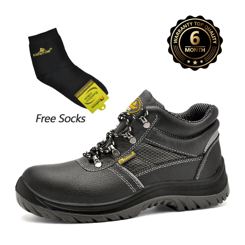 Safetoe Safety Shoes Work Boots Men Steel Toe Cap