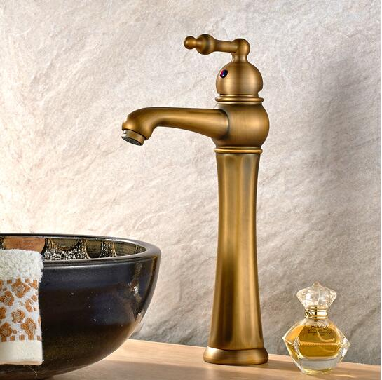 New Water Tap European Style antique brass bathroom faucet hot and cold luxury wash basin faucet Single Handle sink faucet tap micoe hot and cold water basin faucet mixer single handle single hole modern style chrome tap square multi function m hc203