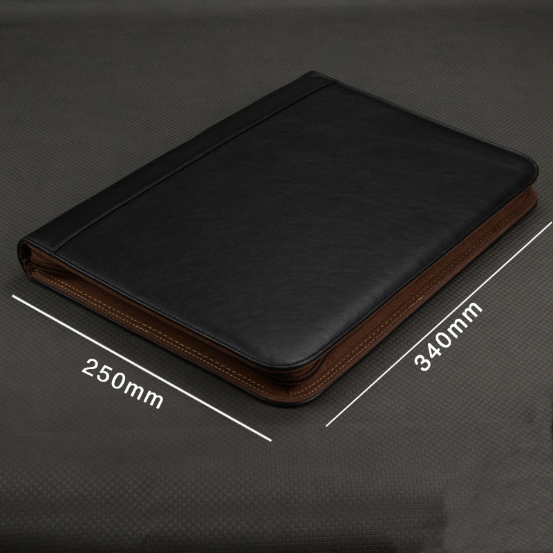 Multifunctional Faux Leather Office Business A4 Folder For Papers Folders For Paper A4 Documents Briefcase With Zipper Binder