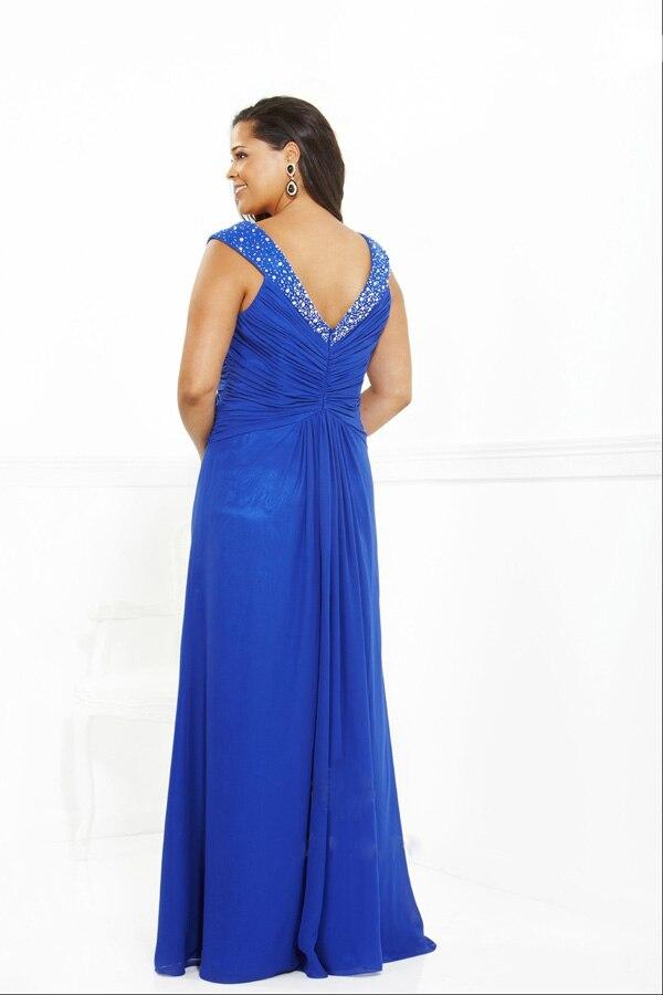 2014 Hot Sale Elegant Royal Blue Beaded A line Turkish Ebay Evening Dress  for Fat Women-in Evening Dresses from Weddings   Events on Aliexpress.com  ... 8de6d926236e
