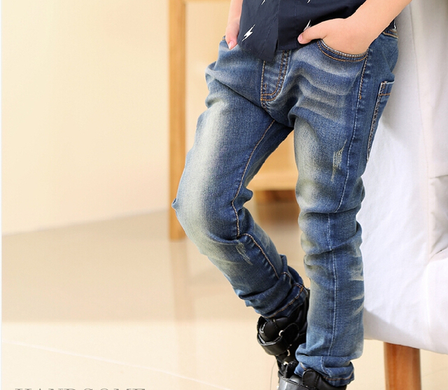 Spring New Cool Skull Boy boy Jeans Trousers Baby Clothes Cuhk