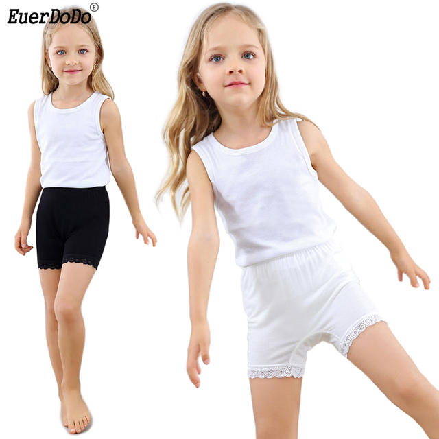 Breathable Modal Lace Tight Shorts For Girls Anti Emptied Safety Short  Pants Soft Teens Girl Underwear For Skirt