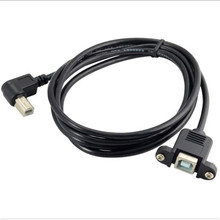 цена на 0.5M 1M elbow USB-B extension cable USB print port extension cable Print extension cable male to female panel line
