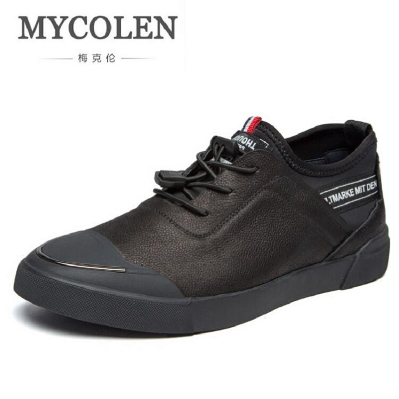 MYCOLEN Men Leather Shoes Brown Casual Handmade High Quality Lace Up Footwear Fashion Design Comfort Men's Shoes tenis masculino zjnnk hot sale genuine leather men casual shoes black brown men flats handmade men father shoes lace up men shoes dropship h825