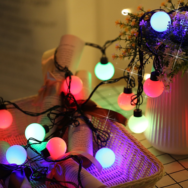 AC110V/ 220V European using led christmas tree home decoration light ,colourful light bulbs ,5m length, waterproof