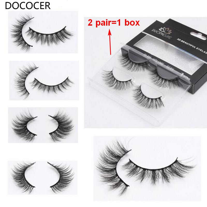 eac72520a36 100 Pairs 3D Mink Lashes Natural Long False Eyelashes Dramatic Volume Fake  Lashes Makeup Eyelash Extension