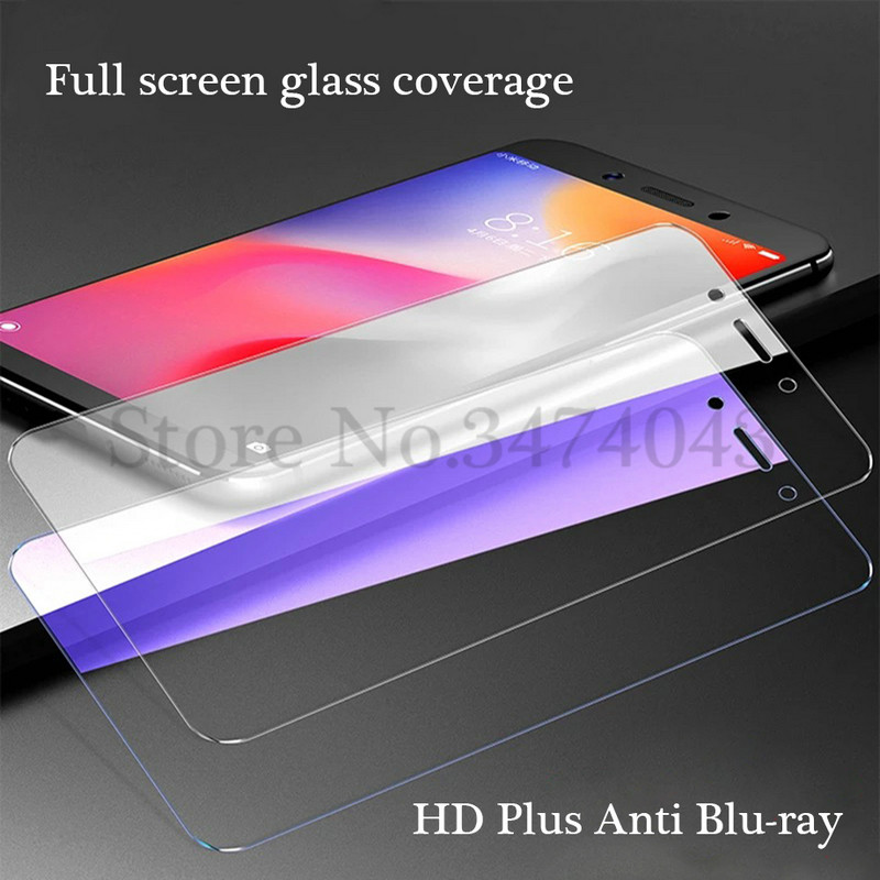 2Pcs 9H 2.5D Tempered Glass For Xiaomi Redmi 7A 6 Screen Protector Film For Xiaomi Redmi 7A 6 6A Glass Phone Anti-Blu-ray 5.45'' image