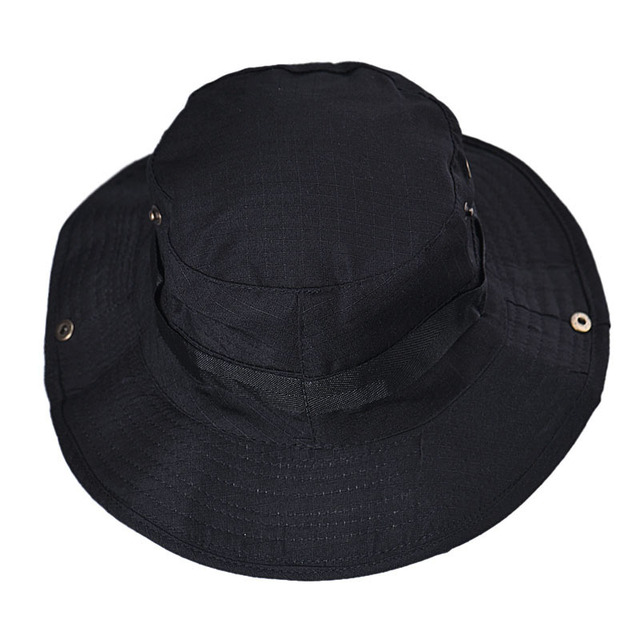 5151d154bf3 5 Colors Hats Jungle Camo Fisherman Hat with Wide Brim Sun Fishing Bucket  Hat Camping Fishing
