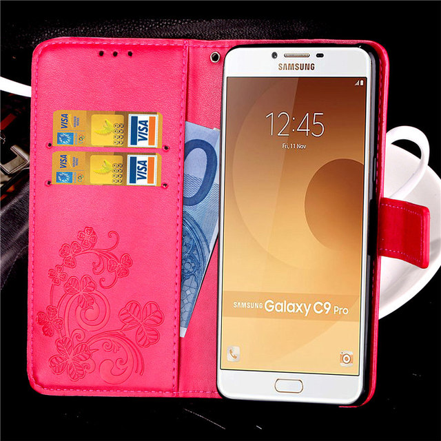Wallet Cover For Samsung C9 / C9 Pro Leather Case Luxury Thin Card Holder Phone Case Cover For Samsung Galaxy C9 Pro sm-C9000