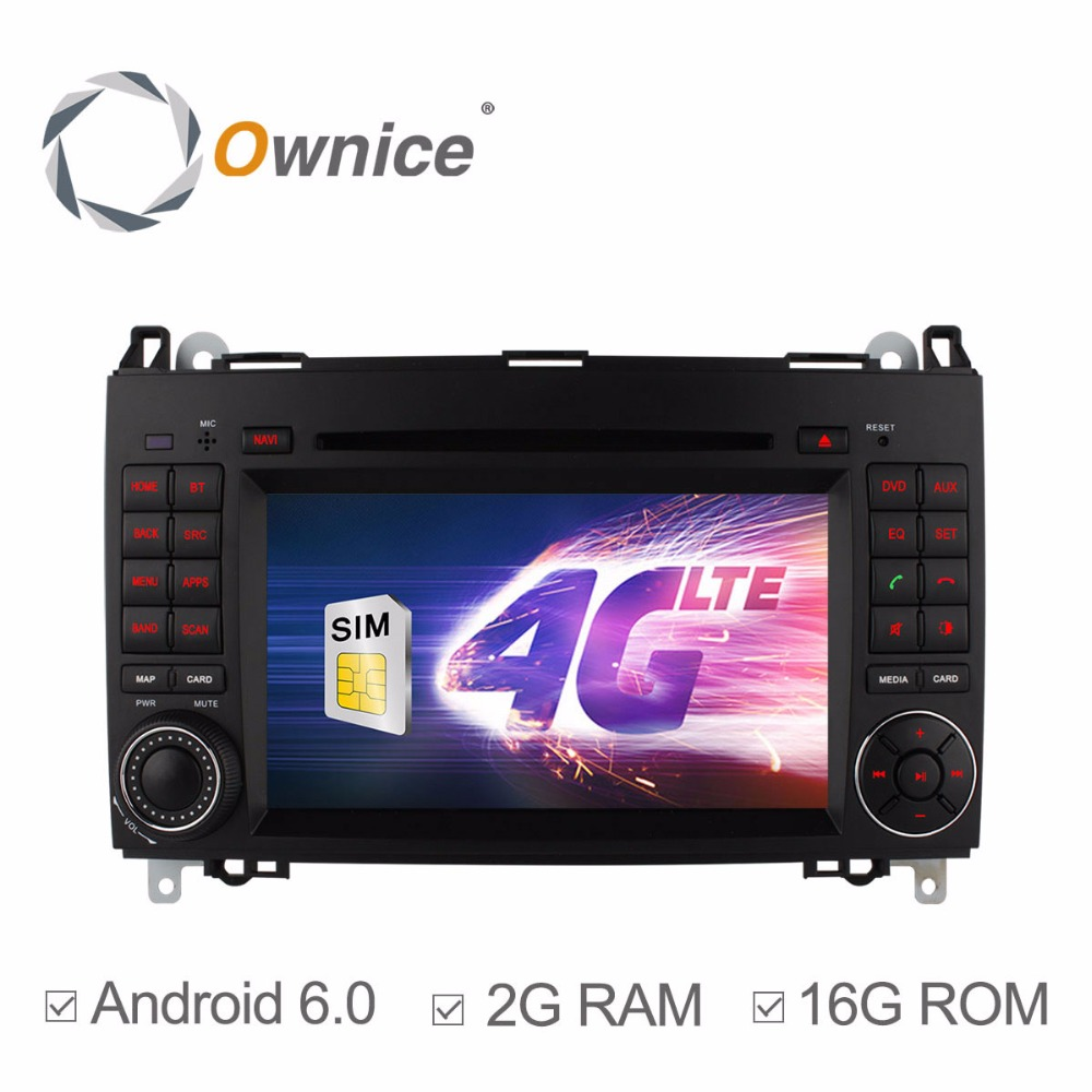4g quad core cpu android 6 0 car dvd player for mercedes benz sprinter a b class b200
