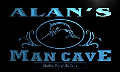 x0091-tm Alans Man Cave Fishing Custom Personalized Name Neon Sign Wholesale Dropshipping On/Off Switch 7 Colors DHL