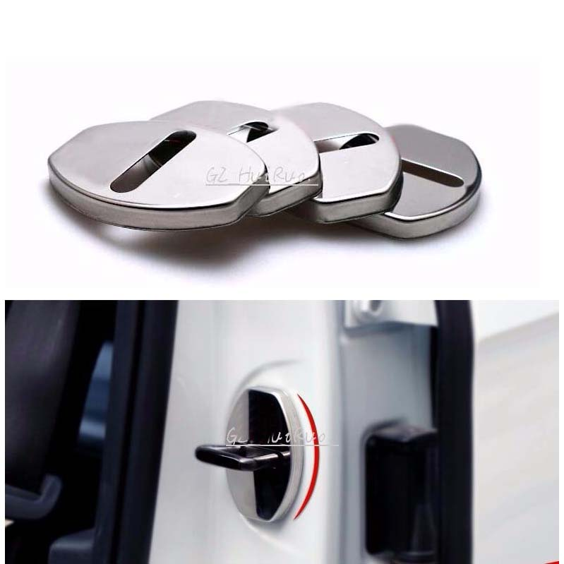 4 PCS S stainless steel metal decoration car door lock button protection cover for Audi A1 A3 A4 A5 A7 A8 Q3 Q5 S5 TT TTS