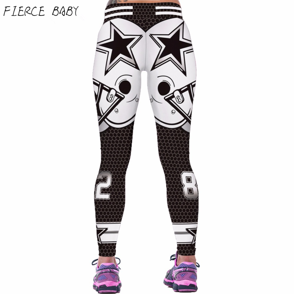 Prix pour Équipe de football américain Yoga Pantalon Collants Running Sport Leggings Fitness Skinny Pantalon Mince Femmes de Haute Taille Gym Leggings Sexy