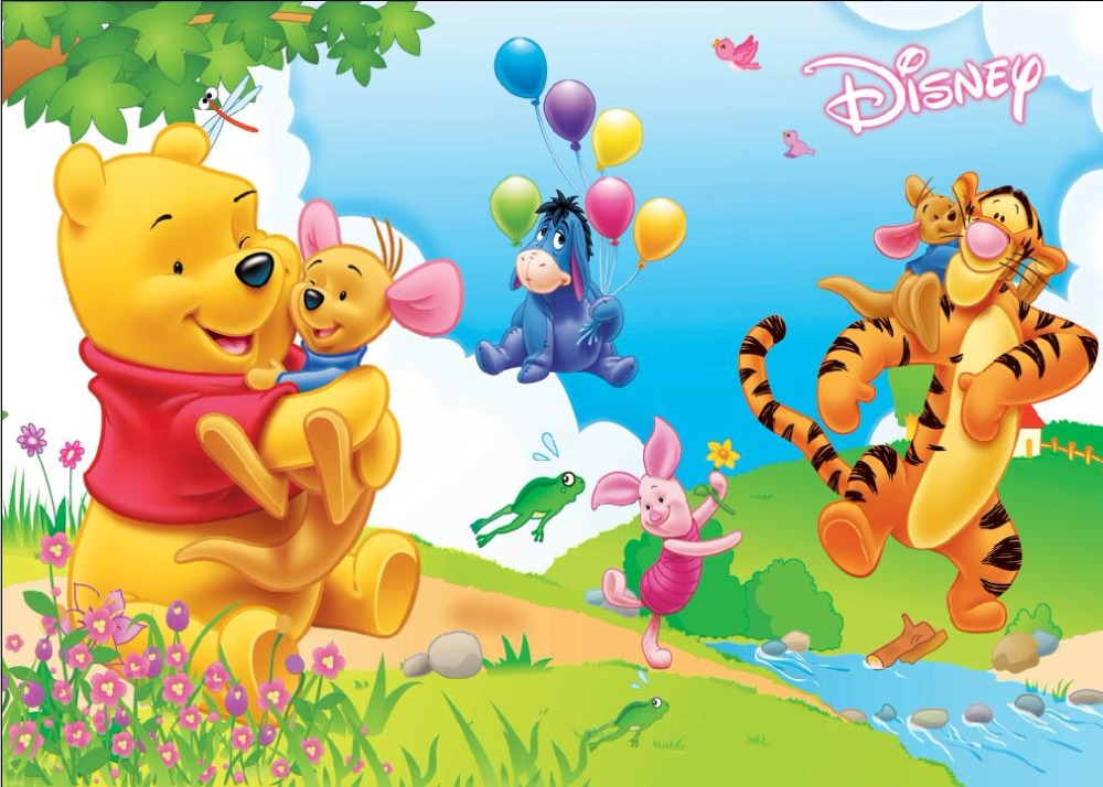 SHENGYONGBAO Art Cloth Backdrops for Photography Winnie Pooh theme Photo Studio Background 81122-02