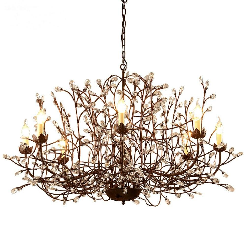 Moderne Nordique Lustre En Cristal Lampe En Cristal Luminaire Rustique Lustre pour Salle à manger Cuisine E14 6 8 Lumière Led Lampes