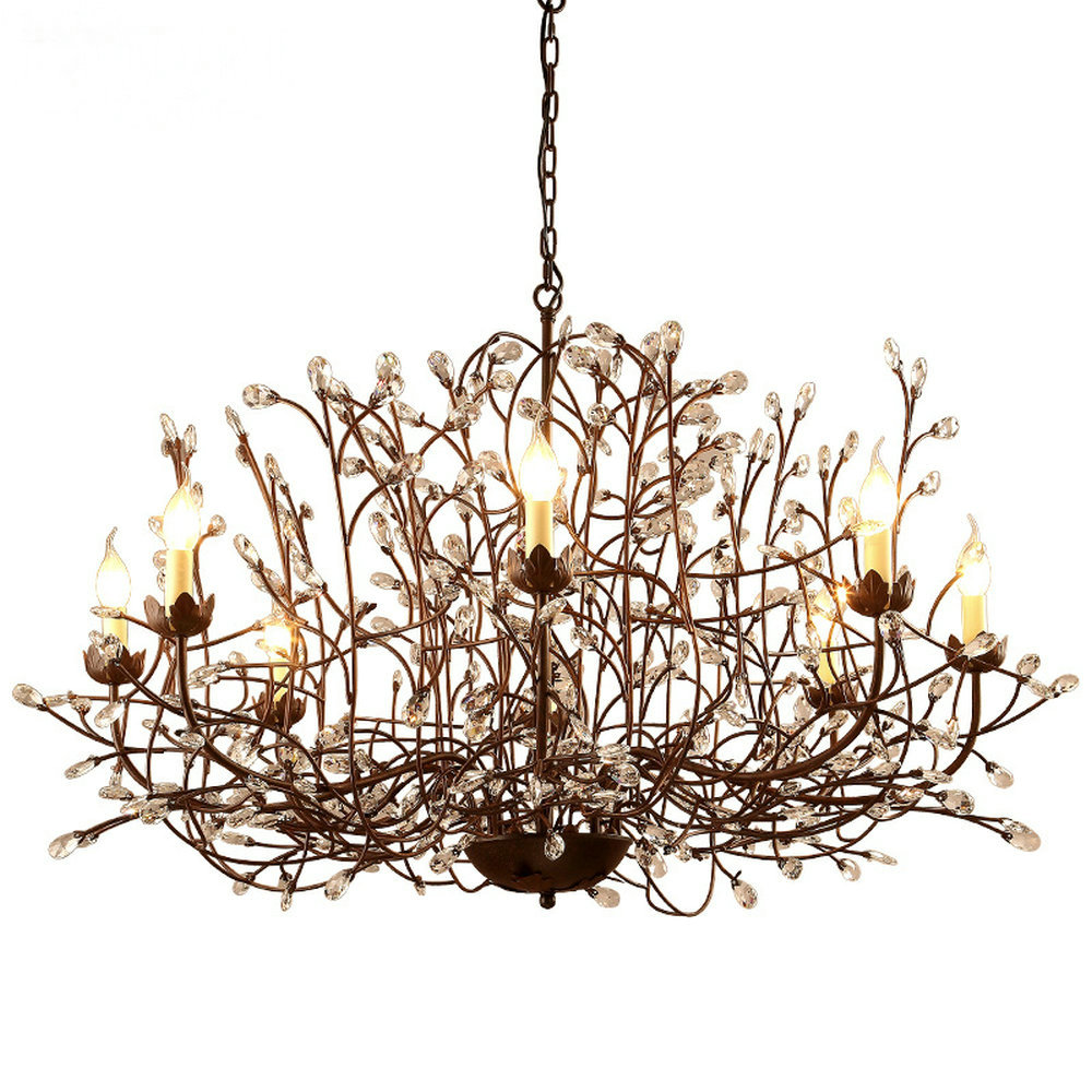 Moderno Nordic Lampadario di Cristallo Lampada di Cristallo Lampada Rustico Lampadario per Sala da pranzo Cucina E14 6 8 Luce Led Lampade