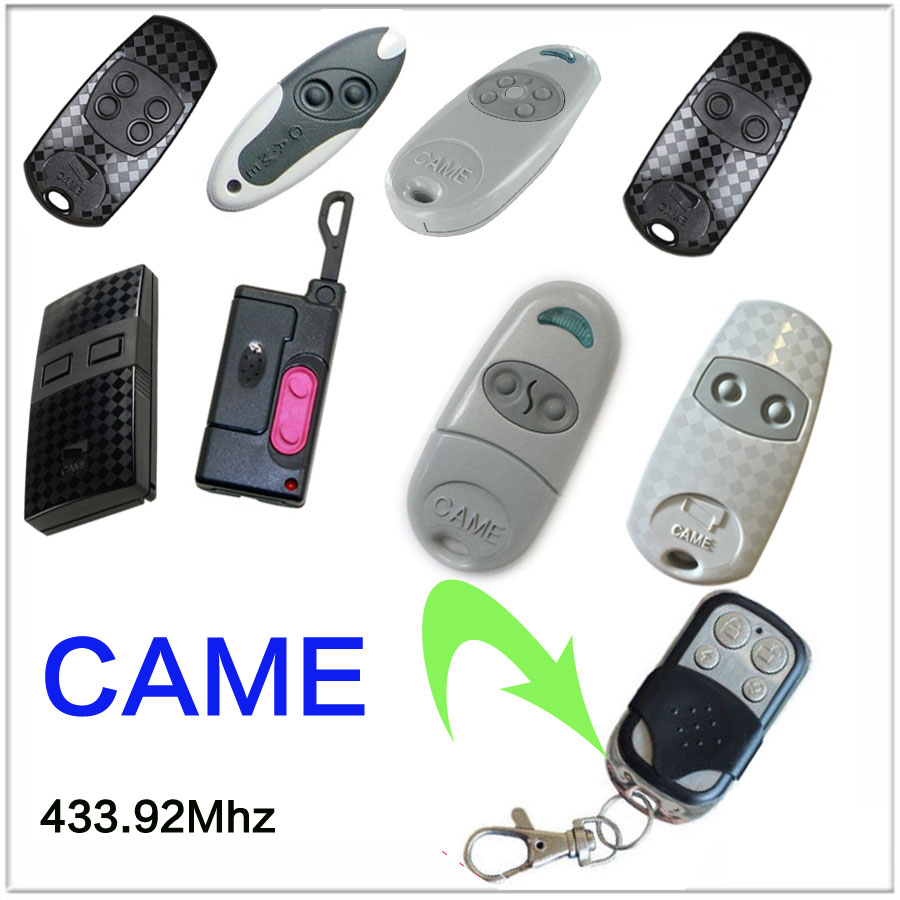 Copy CAME TOP432NA TOPEV TOP432SA TOP432S TOPEE Duplicator 433.92 mhz remote control Universal Garage Door Gate Fob Remote copy came top432na garage door remote control universal 433mhz gate remote control came top432 na