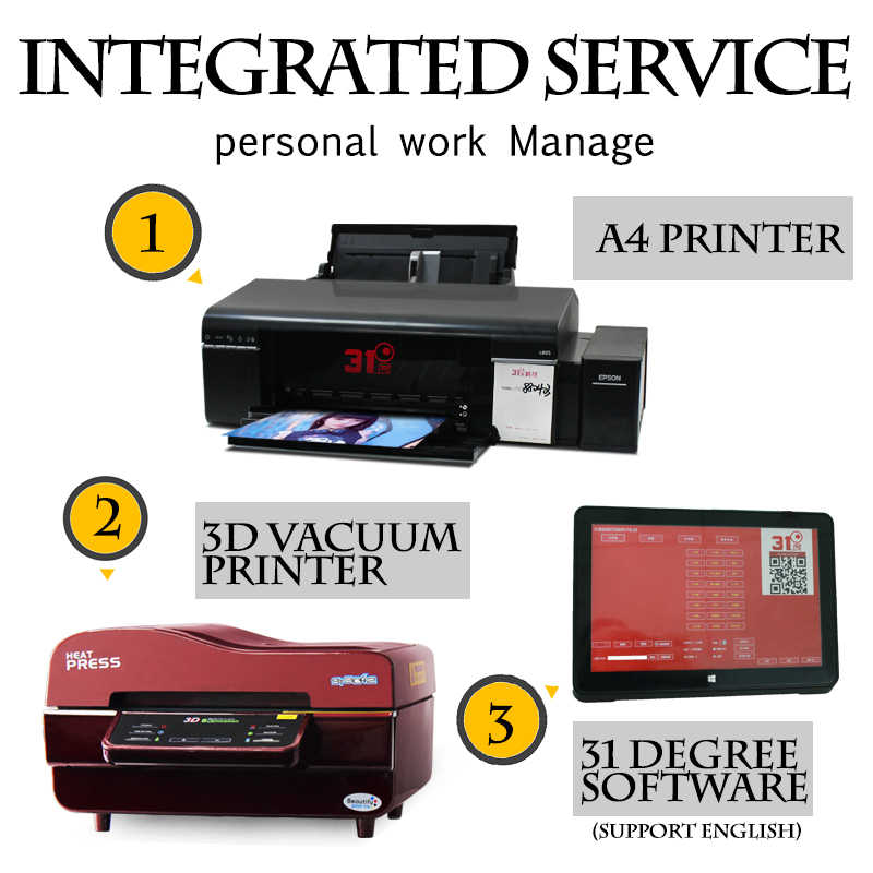 3D Vacuum Thermal Imager Heat Press Machine Sublimacion Mug,T Shirt /Cell  phone Case Digital Printing Machine Photo Printer