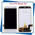 Para zte blade s6 display lcd substituição da tela de toque de alta qualidade de 5.0 polegada para zte blade s6 smartphone celular branco