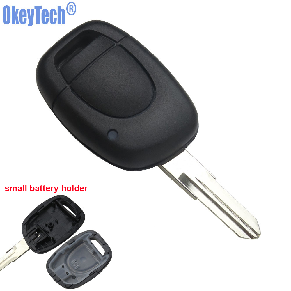 OkeyTech 1 Button VAC102 Blade Remote Car Key Shell For Renault Twingo Clio Kangoo Master Auto Replacement Blank Fob Case Cover