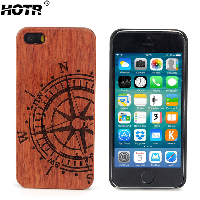 super cute 90c40 7f499 HOTR Luxury Bamboo Wood + PC Hard Case For iphone 5s Case For iphone 5 SE  Shockproof Wooden Back Cover For iphone 5s 5 SE Cover -in Fitted Cases from  ...