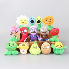 купить 14pcs High Quality PVZ Plants VS Zombies Soft Plush Toy Dolls Kids Gift Action Figure Model Toy Gift For Children Christmas по цене 1471.97 рублей