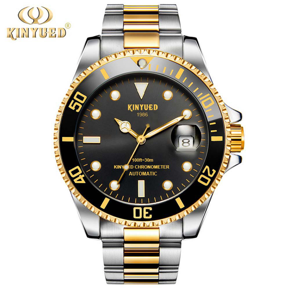 2018 KINYUED Brand Men Mechanical Watch Automatic Role Date Fashione luxury Submariner Clock Male Reloj Hombre Relogio Masculino ailang mens watches top brand luxury men automatic mechanical watch fashione clock male reloj hombre relogio masculino 2017
