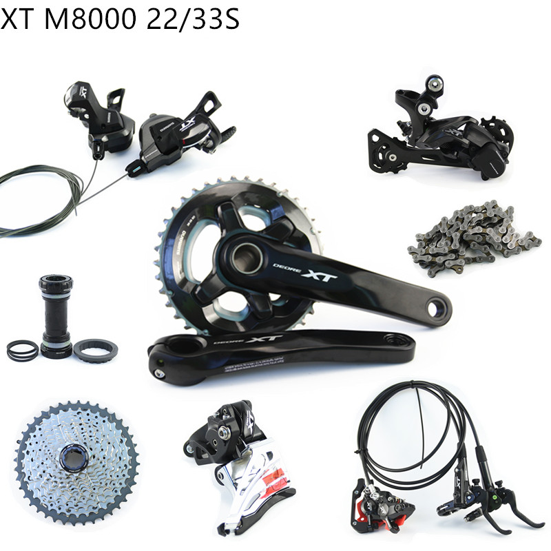 SHIMANO XT M8000 groupset kit 2X11 22S 33S 3x11 22 Speed MTB Mountain bike Derailleur Group