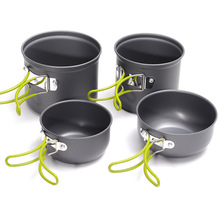 Outdoor cookware 2-3 people set pot camping tableware household outdoor portable