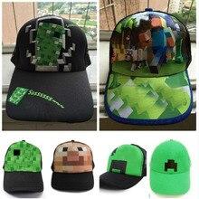 433cc9f939d 2019 Game Minecraft Roblox Cartoon Kids Sun Baseball Caps Hat Hip Hop Hats  Boy Girl Action