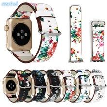 AIGRETTES véritable en cuir montre bracelet pour apple montre bande 42mm/38 montre-bracelet Bracelet pour iwatch bande 1/2 Édition avec adaptateur