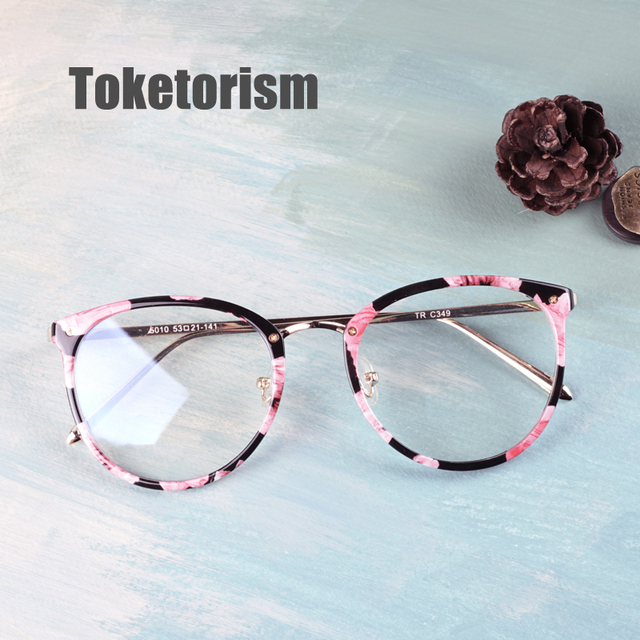 44c1e5c8d7 Toketorism 2019 tr90 gold glasses frame vintage women men eyes glasses  miopia diopter optical frames