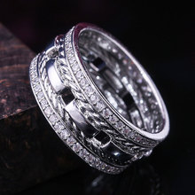 HIP HOP Rose Gold Color Rings for Men/Women High Quality Fashion AAA Cubic Zirconia Wedding Bands Jewelry 2019 все цены