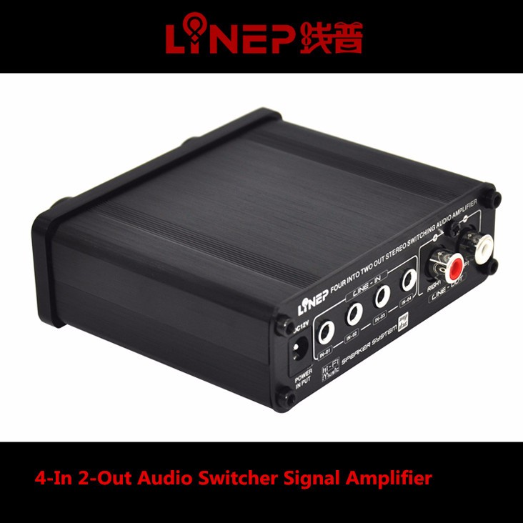 2016 Brand New A926  4-In 2-Out  Mini Audio Switcher Hifi Digital Audio Headphone Amplifier Sound Processor Preamp MP3 Switcher 13