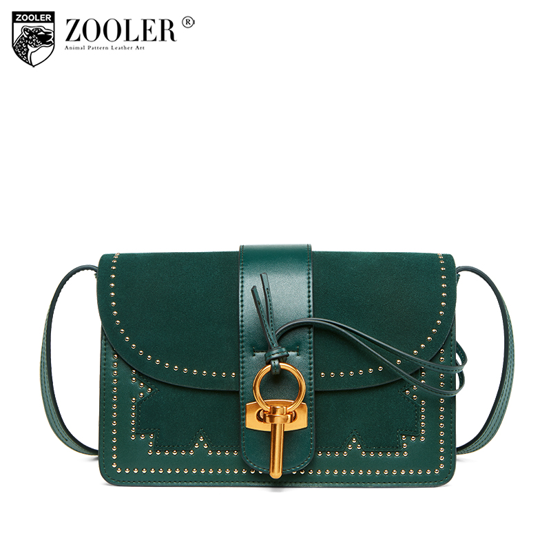 2018 ZOOLER Brand High Quality Genuine Leather bag Shoulder bags for women 2018 fashion luxury woman