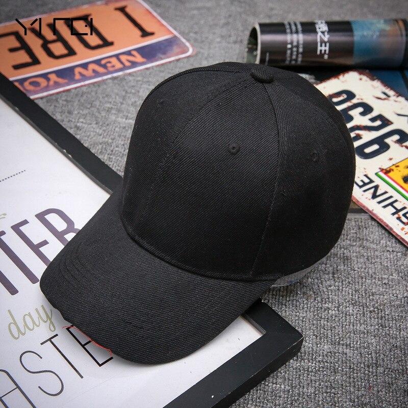 Black Adult Unisex Casual Solid Adjustable Baseball Caps Snapback Hats For Men Baseball Cap Women Men White Baseball Cap Hat Cap