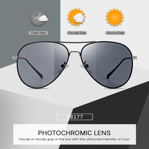 MERRYS DESIGN Men Classic Polarized Photochromic Sunglasses Chameleon Driving Sunglasses 100% UV Protection S8177 Lahore
