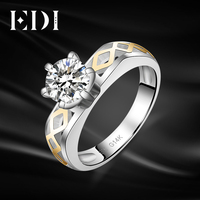 EDI Solitaire Moissanite Diamond Wedding Rings For Women 14k 585 Yellow White Gold Engagement Bands Christmas
