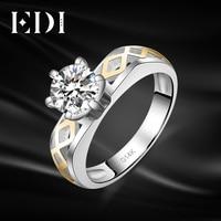 EDI Solitaire Moissanite Diamond Wedding Rings For Women 14k 585 Yellow White Gold Engagement Bands Christmas