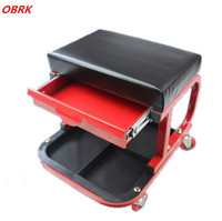 Car Creeper Motor Repair Work Stool Creeper Seat With Drawer Tool Shelf