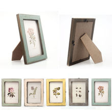5 Colors Quality Vintage Photo Frame Home Decor Retro Wooden Wedding Couple Recommendation Pictures Frames Gift Ornament /yh(China)