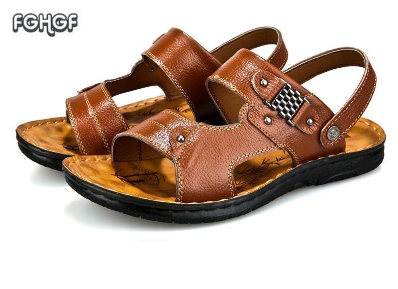2018 mens sandals summer men sandals men shoes man beach sandals slides ourdoor sneakers casual erkek sandalet sepatu pria