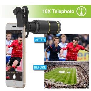 Image 2 - APEXEL Optic Handy Kamera Objektiv 16x Teleskop teleobjektiv mit stativ + 5in1 fisheye breite für Samsung Huawei alle handys