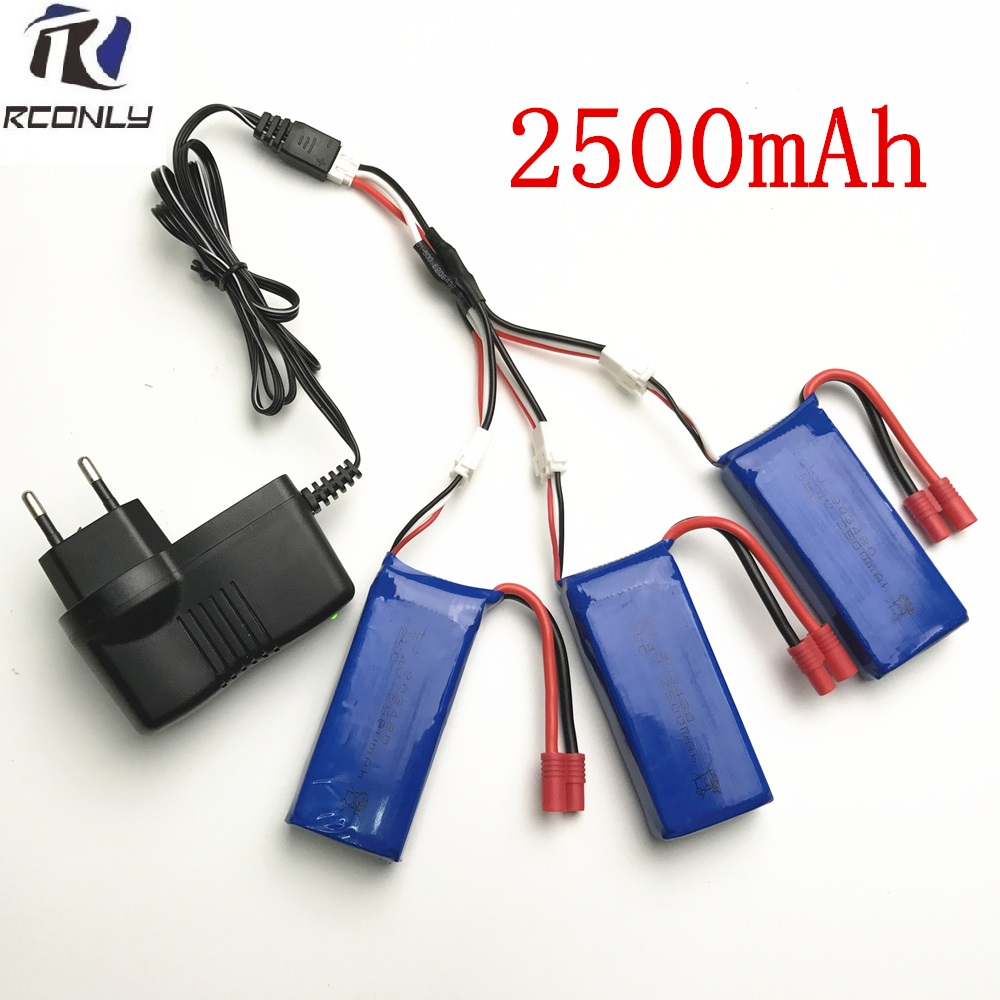 Syma X8C parts charger battery 7.4v 2500mah Syma X8W X8G X8HC X8HW X8HG RC Quadcopter spare parts Charger+1 to 3 wire+battery hg p401 402 601 1 10 rc car parts 7 4v charger hg cha01