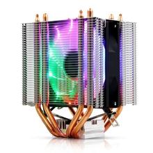 3Pin/4Pin RGB LED CPU Cooler 4-Heatpipe Dual Tower Fan Cooling Heatsink Radiator for LGA 1150/1151/1155/1156/775/1366 X79 X99AMD