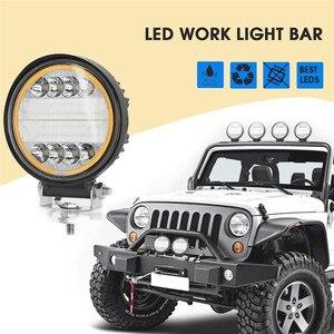 Image 5 - OKEEN Barra de luz LED de obra de 4 pulgadas y 120W, Combo de luces antiniebla 4x4 con ojos de Ángel, luz de conducción amarilla y blanca para camión