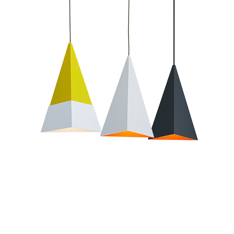 Modern Triangle Single Head Metal Hanging Lamp E27 European Creative Home Decoration Restaurant Bar Cafe Pendant Lighting PL543 restaurant cafe meal of lamps and lanterns hanging lamp is acted the role of single head 3 lemon meal hanging lamp