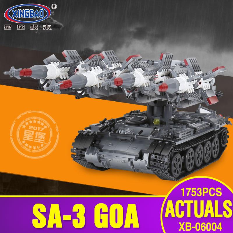 Xingbao 06004 1753Pcs Military Series The SA-3 missile and T55 Tank Set Children Educational Building Blocks Bricks Toy kid Gift