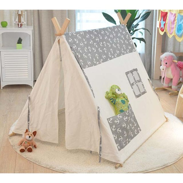 Popular 100% cotton kid teepee tent Sailors pure cotton baby children tents tents Indoor play house Photography tent & Online Shop Popular 100% cotton kid teepee tent Sailors pure ...