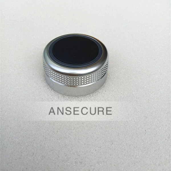 Silver Main Menu Multimedia Rotary Control Switch Knob Cap Cover Without navigation For <font><b>Audi</b></font> <font><b>A6</b></font> C6 D3 A8 Q7 4F0919069A image